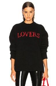 AMIRI Intarsia Wool-Blend Sweater in Black