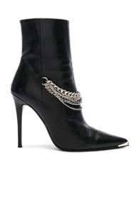 Chain Ankle Boots in Black