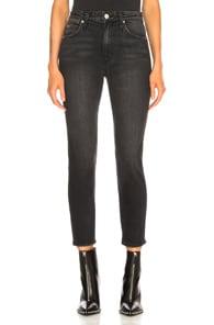 AMO Amo Cropped Skinny Jeans - Black