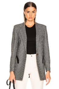 Blazé Milano BLAZE MILANO FAIR AND SQUARE TIMELESS BLAZER IN BLACK & WHITE CHECK