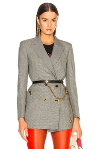 Blazé Milano BLAZE MILANO KENTRA EVERYDAY DOUBLE BREASTED BLAZER IN CHECKERED & PLAID,GRAY