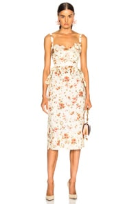 Brock Collection BROCK COLLECTION DAILEY DRESS IN WHITE,FLORAL