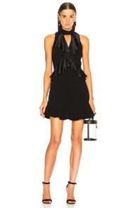 Cinq A Sept Ruffle Trim Mini Dress - Black