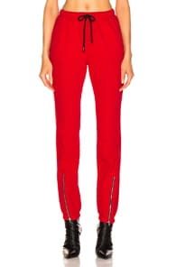 Cotton Citizen COTTON CITIZEN MILAN ZIP JOGGER IN CHERRY