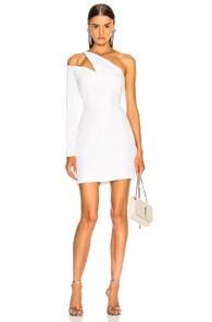 One-Shoulder Cutout Cady Mini Dress in White
