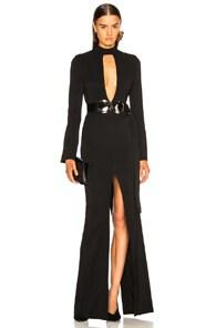 David Koma Front Split Gown