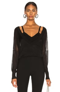 DION LEE Dion Lee Layered Lightweight Sweater - Black