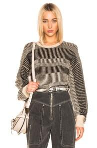 Equipment Sweaters EQUIPMENT AUBIN SWEATER IN BLACK,NEUTRAL,STRIPES