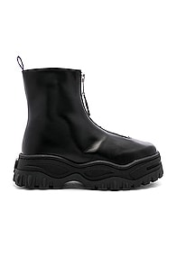 Eytys Raven Zip Up Leather Boots In Black