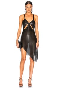 FANNIE SCHIAVONI Fannie Schiavoni Metal Mesh Dress In Black