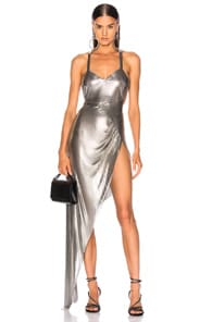 FANNIE SCHIAVONI Fannie Schiavoni Izabel Dress In Metallic