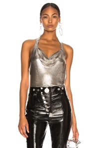 FANNIE SCHIAVONI Fannie Schiavoni Crystal Top In Metallics