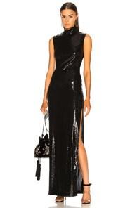 Galvan Galaxy Dress In Black