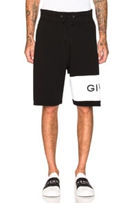 Logo-Embroidered Cotton Shorts - Black Size S