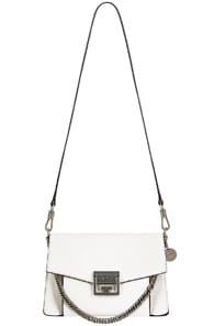 Gv3 Small Leather Cross-Body Bag in White