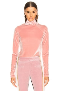 Haider Ackermann HAIDER ACKERMANN VELVET TURTLENECK IN KERRIA ROSE
