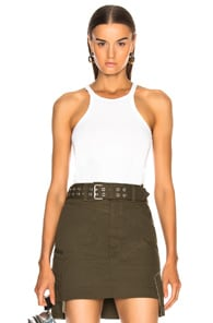 Helmut Lang Racerfront Tank Top In White
