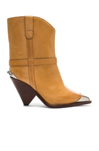 ISABEL MARANT ISABEL MARANT LEATHER LAMSY BOOTS IN NEUTRAL