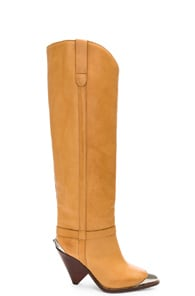 ISABEL MARANT ISABEL MARANT LEATHER LENSKEE BOOTS IN NEUTRAL