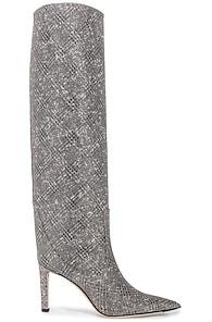 Jimmy Choo Mavis 85 Boots In Silver