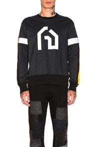 JUNYA WATANABE Reflective Details Cotton Sweatshirt in Black