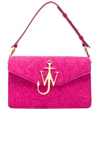 J.W.ANDERSON Fuchsia Felt And Leather Shoulder Bag, Pink
