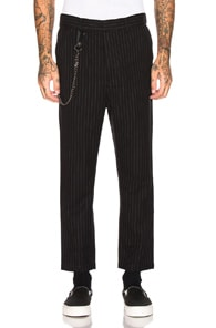 Ksubi KSUBI SID PINSTRIPE PANT IN BLACK,STRIPES