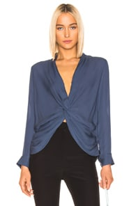L'agence Tops L'AGENCE MARIPOSA BLOUSE IN BLACK.