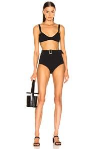 Lisa Marie Fernandez Magdalena Belted High Waist Bikini