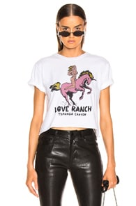 Local Authority LOCAL AUTHORITY LOVE RANCH CROP TEE IN WHITE.