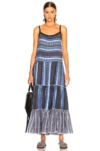 Lemlem LEMLEM LUCY TIERED DRESS IN BLUE.