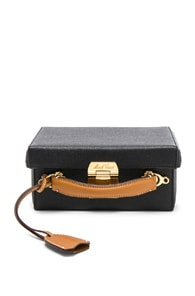 Grace Small Leather Cross-Body Bag in Black Tan