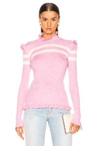 Maggie Marilyn  MAGGIE MARILYN FAR FAR AWAY KNIT SWEATER IN PALE PINK