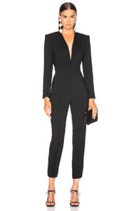 Michelle Mason MICHELLE MASON JUMPSUIT WITH DRAPED BACK IN BLACK