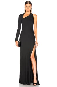 Michelle Mason Gown With Asymmetrical Back