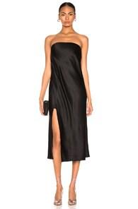Michelle Mason MICHELLE MASON STRAPLESS DRESS IN BLACK