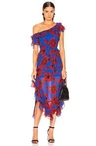 Marissa Webb MARISSA WEBB SOFIA PRINT DRESS IN PEONY KLEIN BLUE