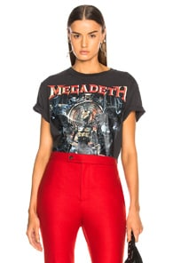 Megadeth Distressed Printed Cotton-Jersey T-Shirt, Black