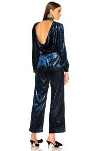 Shinny Evening Jumpsuit in Blue