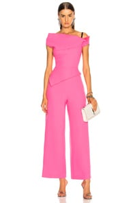Gable Wool-Crepe Jumpsuit, Pink