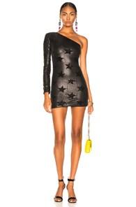 Edie Sequin Star Dress in Black