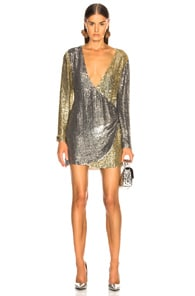 RETROFÉTE Retrofete Christine Dress In Metallic