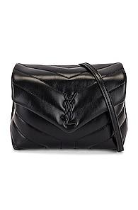 Toy Loulou Strap Bag, Black