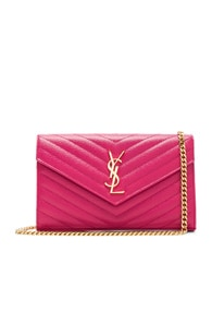 Saint Laurent Monogram Logo Shoulder Bag - Pink