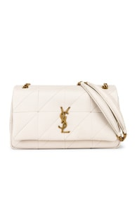 Saint Laurent Medium Monogramme Jamie Chain Bag In White   ModeSens 605093bfcb