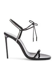 Robin Crystal Embellished Sandals in Black