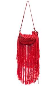 Stella Mccartney Small Macrame Hip Bag In Red