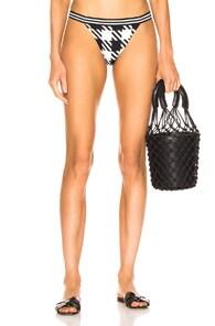 Solid & Striped Beachwear SOLID & STRIPED MEGHAN BIKINI BOTTOM IN BLACK GINGHAM