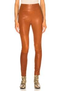 SPRWMN Sprwmn Brown High Waisted Leather Leggings