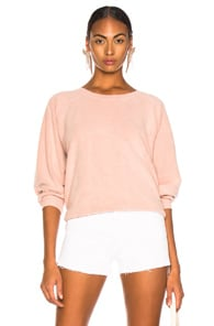 The Great THE GREAT BUBBLE SWEATSHIRT IN PINK